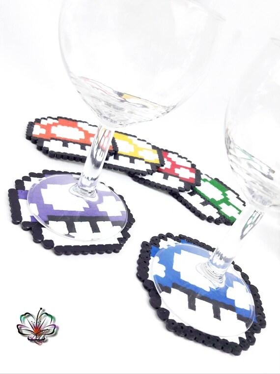Mario Mushroom Pixel Art Coasters