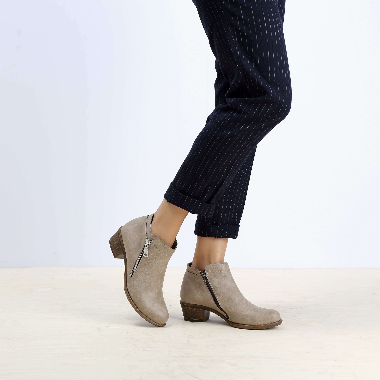 Beige Vegan Mujer  botas ies Beige Vegan Mujer Mujer Mujer ankle  botas  Eco Friendly 73ec6d