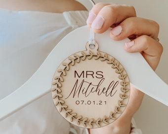 Wedding hanger charm, wedding keepsake, bridesmaid gift, wedding dress charm