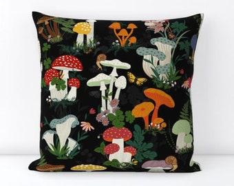morels cushion magic mushroom wild mushroom pillow Mushroom CUSHION pillow fungal fungi cushion Cushion psychedelic shroom cushion