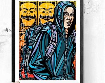 Mr Robot TV Series Silk Poster 13x20 24x36 inch Elliot Alderson 003