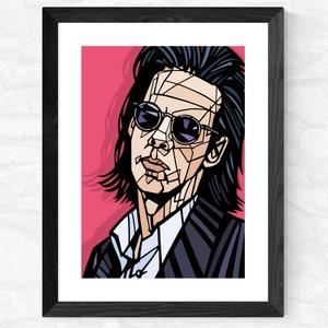 Pop Art Print Music Print Nick Cave Print Nick Cave and The Bad Seeds Art print