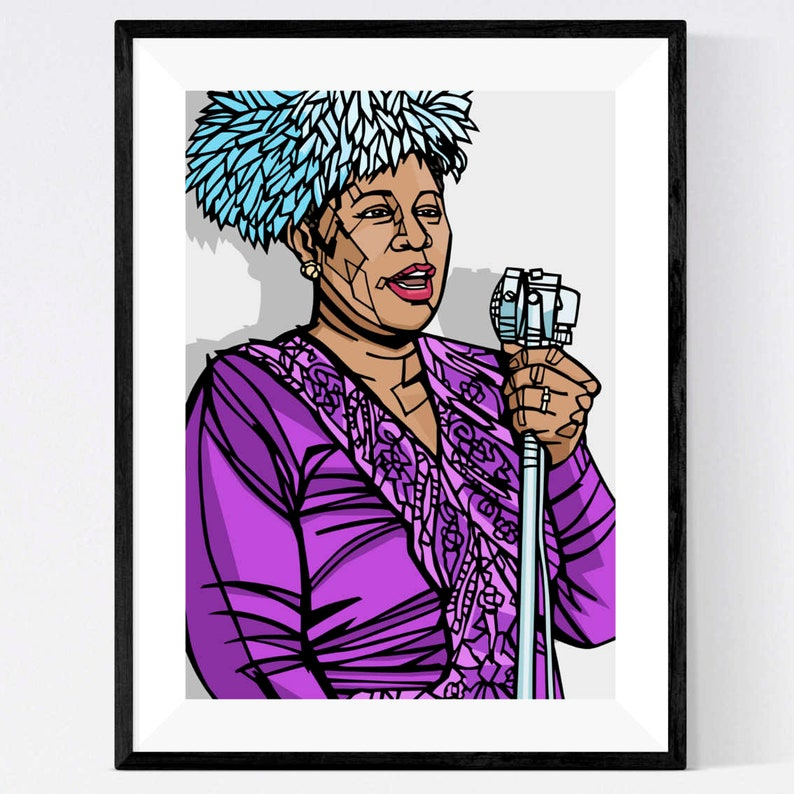 Pop Art Print Jazz Music The First Lady of Song Ella Fitzgerald art print
