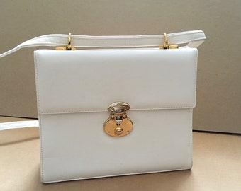 9169aee5ec Cabrelli   Co 1970s White Shoulder Bag