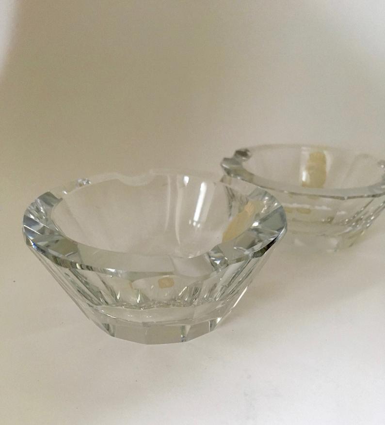 Mid Century Czechoslovakian Crystal Ashtrays