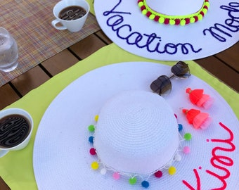 Pom Poms - Removable, Interchangeable and Stackable Colors - for Floppy Hats & Tote Bags