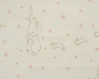 NEW Peony & Sage Rabbit All Stars Pink on White Linen