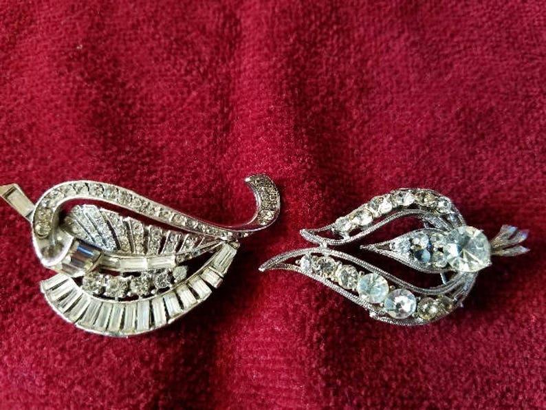 3951281b45e Rhinestone Pins/ Costume Jewelry/ Brooch/ Coat pin/ Pin | Etsy