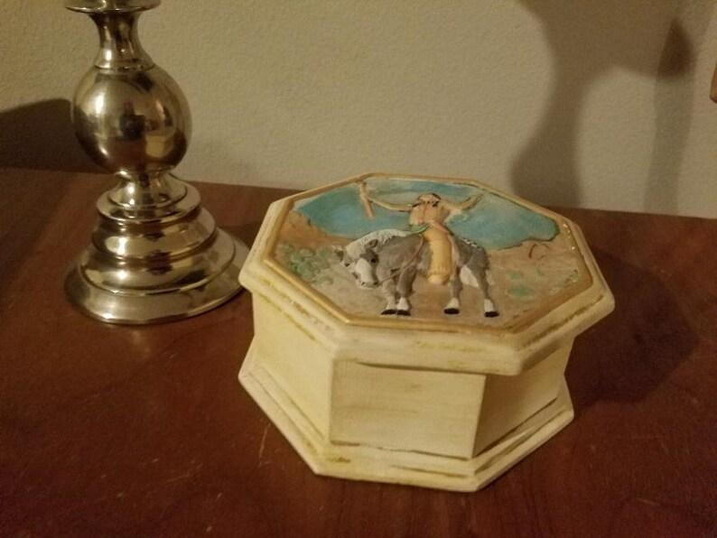 Native American Ceramic Trinket box