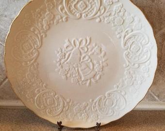 Lenox China Marriage Plate/ Wedding plate/ Lenox