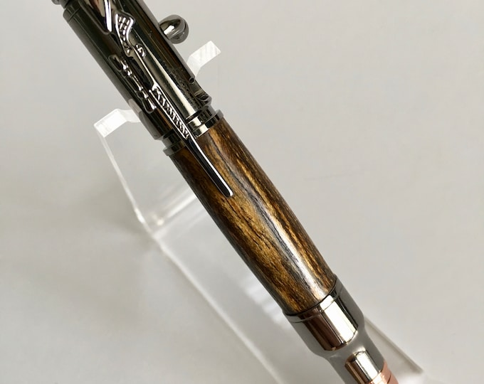 Mini 30 Caliber Bolt Action Pen Custom Pen  Handmade Pen Solid Wood