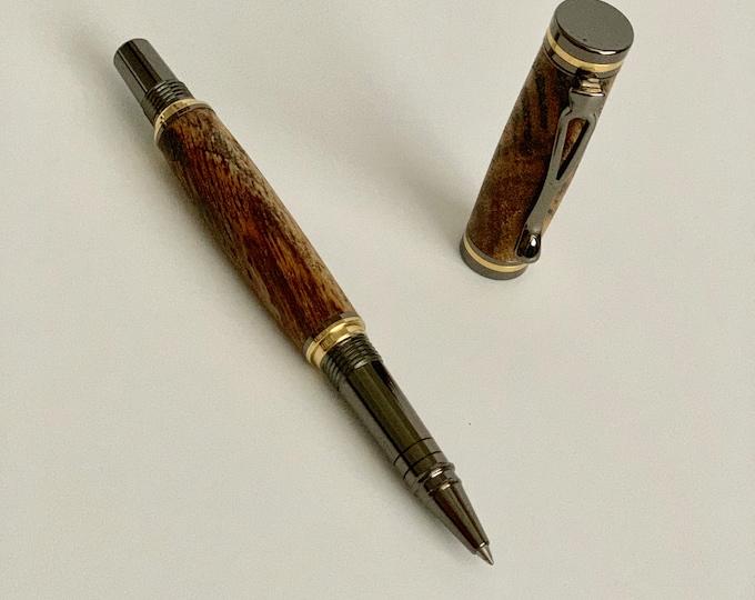 Kojent Rollerball Pen with Custom Hand Turned Wood Body Custom Pen Handmade Pen Solid Wood