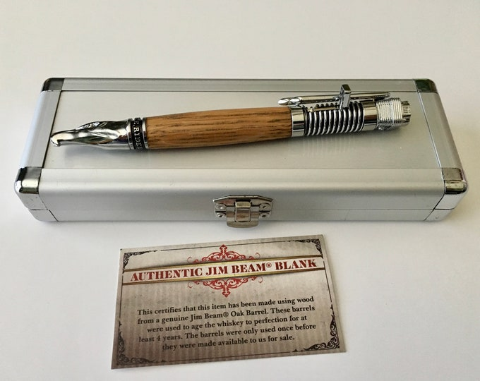 Chrome Motorcycle Kickstart Action Pen w/custom hand turned Body of your choice and Gift Box