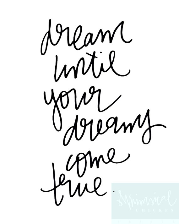 Dream Until Your Dreams Come True Aerosmith Dream On   Etsy