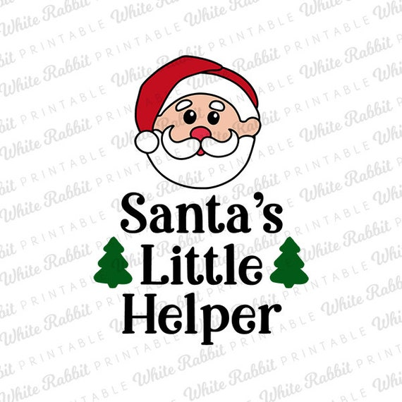 Santa's Little Helper: Digital File, Christmas SVG, Santa Cut File,  Christmas Shirt, Baby's First Christmas, Christmas Bodysuit
