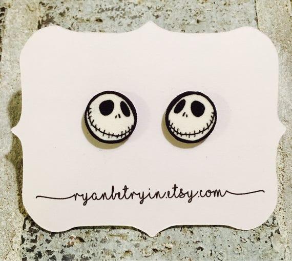 2294e6e489f Jack Skellington Earrings Halloween Earrings Nightmare | Etsy