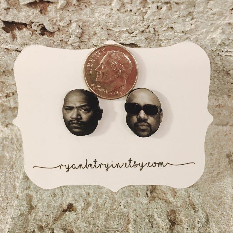 Bun B Pimp C Stud Earrings - UGK Earrings - Underground Kingz - Houston  Texas - Southside - DJ Screw - Sweet James Jones