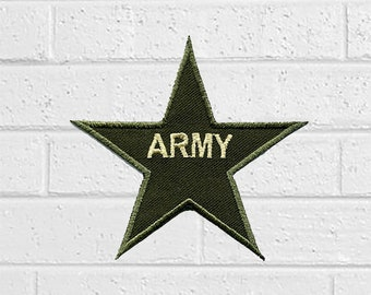 5e827499cb0 Army Star Army Patch - Sign Patch - Iron On Patches - Patches for Jackets