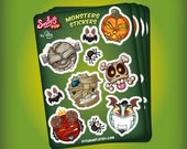 Monster stickers in board for tablet phone motorcycle computer computer