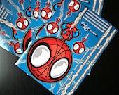 Mini spiderman sticker board for tablet phone laptop