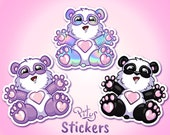 Cute Panda stickers for phone tablet car motorcycle laptop