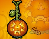 Pumpkin sticker hanging for tablet phone car motorcycle laptop