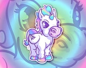 Sticker Holographic Unicorn for phone tablet car motorcycle computer furniture