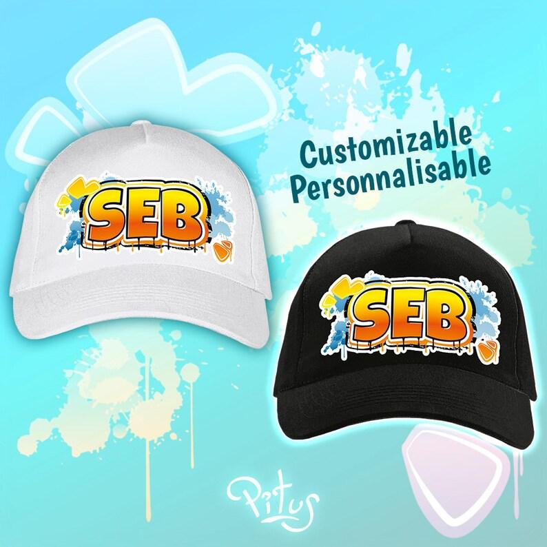 Orange Street Style customizable cap image 1
