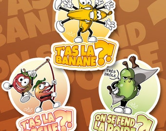 Stickers fruit peach banana pear funny for phone tablet computer furniture