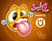 Magnet delirium smiley cartoon magnet