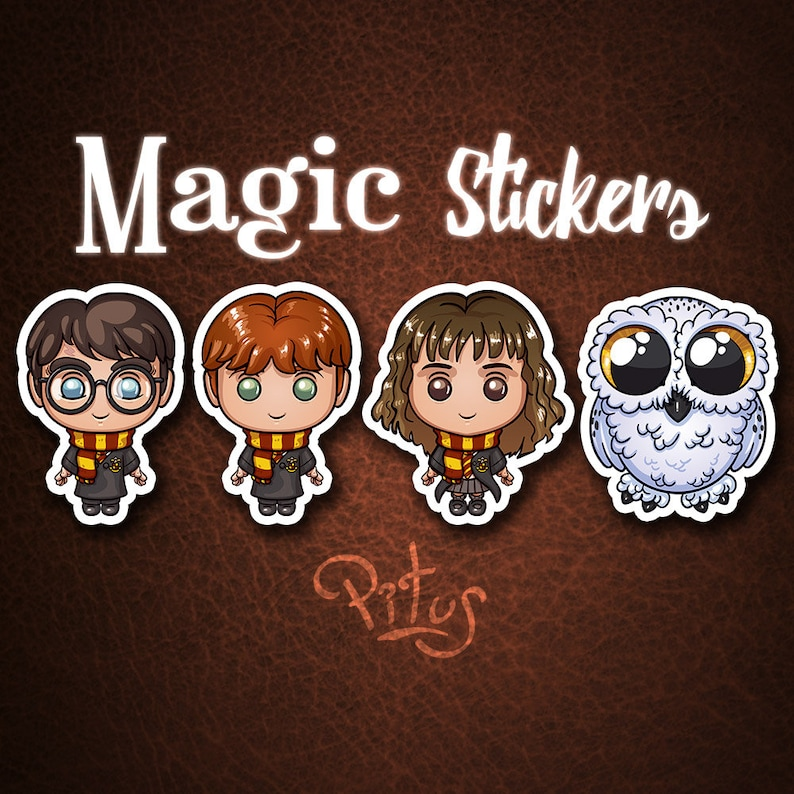 Stickers of Harry and his buddies for phone tablet computer image 1