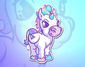 Holographic Unicorn sticker for phone tablet furniture computer