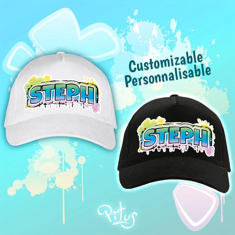 Blue Street Style customizable cap image 1