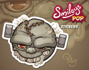 Zombie sticker smiley drooling to decorate phone tablet car motorcycle computer furniture