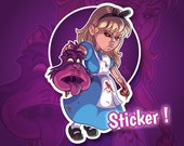 Sticker Alice demon for phone tablet computer furniture
