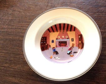 Villeroy and Boch Rimmed Soup Bowl - Pattern Naif