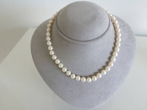 White Freshwater Pearl Strand Necklace 7-8mm, AA+