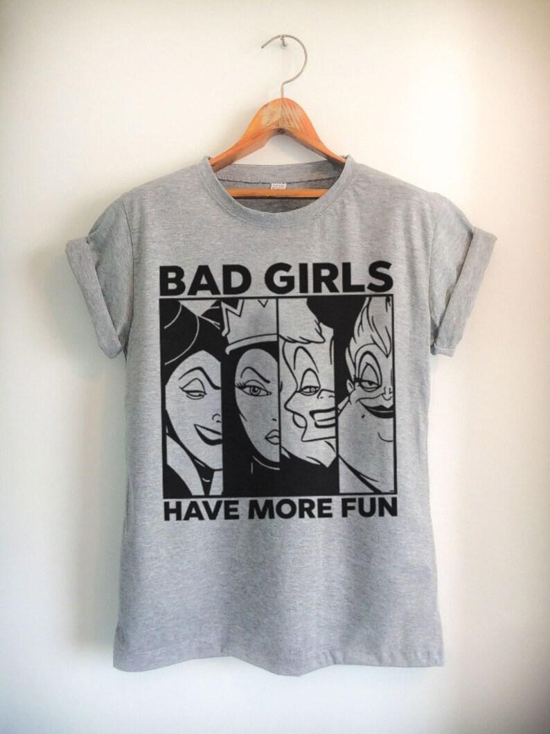 e0a5e852 Bad girls have more fun Villains Tee Malificent Evil | Etsy