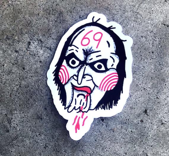 Sticker Takashi 69 Tattoo Replica Jigsaw Hip Hop Rap Sticker