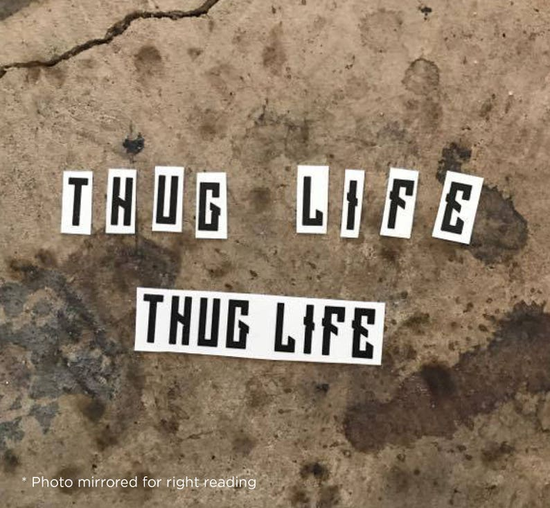 THUG LIFE Tattoo Knuckle Tattoo Hip Hop Temp Tattoo  d7ada97634e