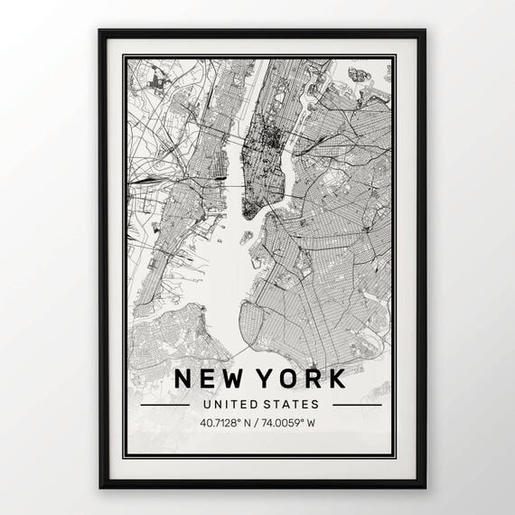 GLASGOW CITY MAP POSTER PRINT MODERN CONTEMPORARY CITIES TRAVEL IKEA FRAMES