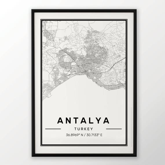 MELBOURNE CITY MAP POSTER PRINT MODERN CONTEMPORARY CITIES TRAVEL IKEA FRAMES