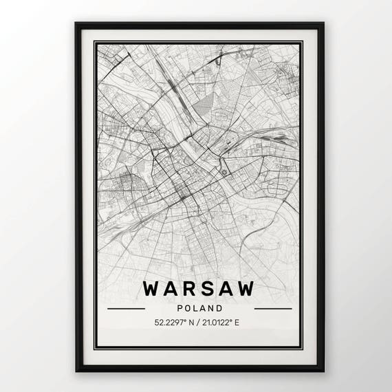 BUENOS AIRES CITY MAP POSTER PRINT MODERN CONTEMPORARY CITIES TRAVEL IKEA FRAMES