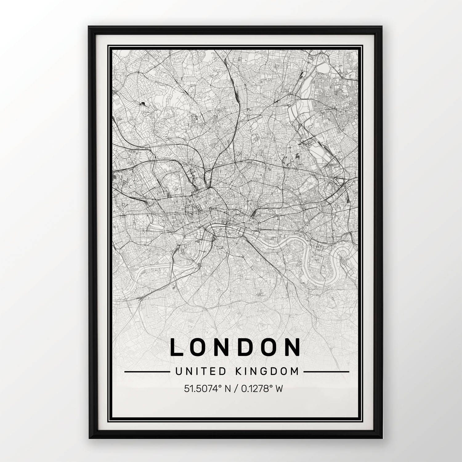 Kunstdrucke MELBOURNE CITY MAP POSTER PRINT MODERN CONTEMPORARY ...