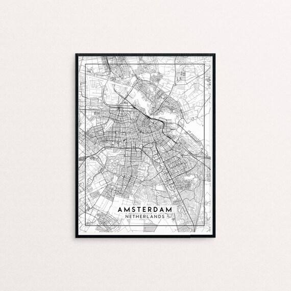 Antiquitäten Kunst Kunstdrucke Budapest City Map Poster