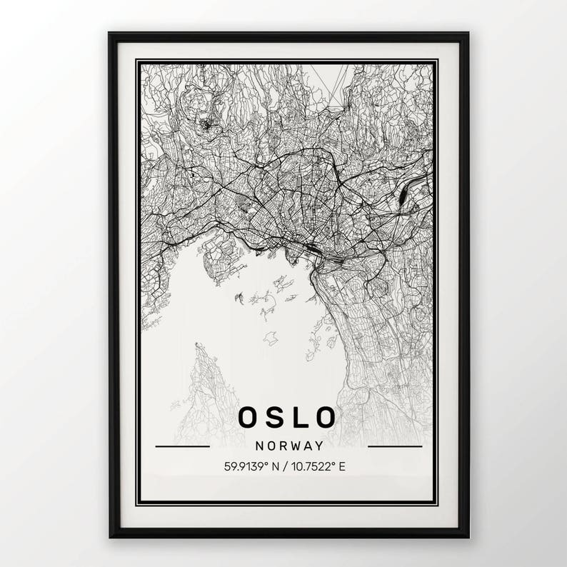 WARSAW CITY MAP POSTER PRINT MODERN CONTEMPORARY TRAVEL IKEA FRAMES CITIES