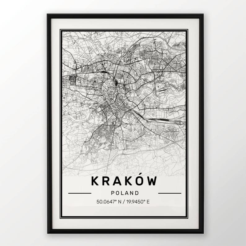 VENICE CITY MAP POSTER PRINT MODERN CONTEMPORARY TRAVEL IKEA FRAMES CITIES