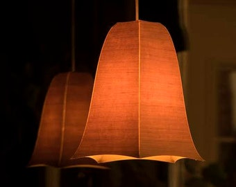 Wood veneer lampshade - Beloeilloise no 15