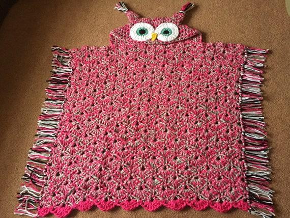 Kapuzen Eule Decke Gehäkelte Decke Chunky Eule Decke für   Etsy