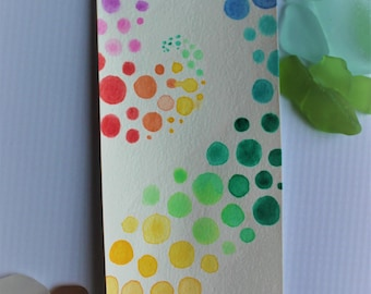 Rainbow Dots Bookmark